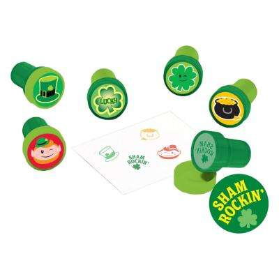 1.5 in. St. Patrick's Day Plastic Stamper Assortment (6-Count, 8-Pack)
