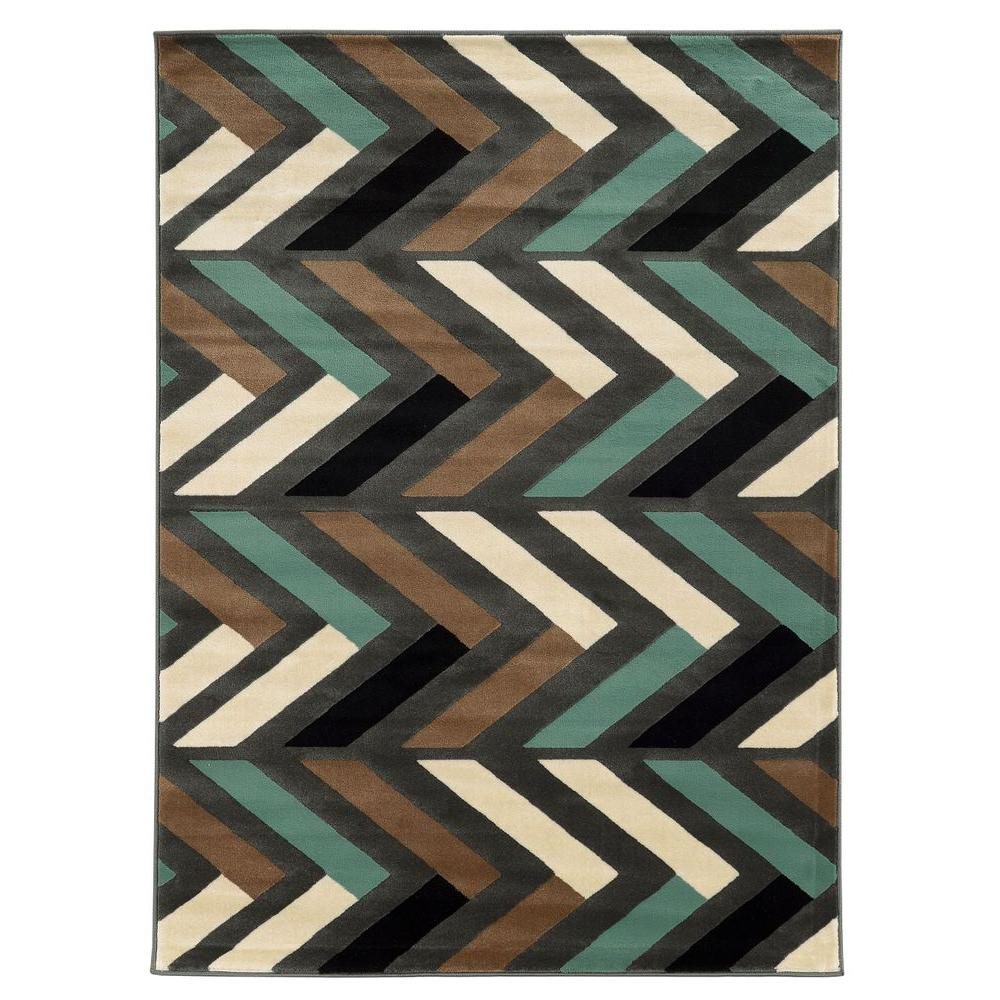 Linon Home Decor Roma Collection Bridle Grey And Turquoise
