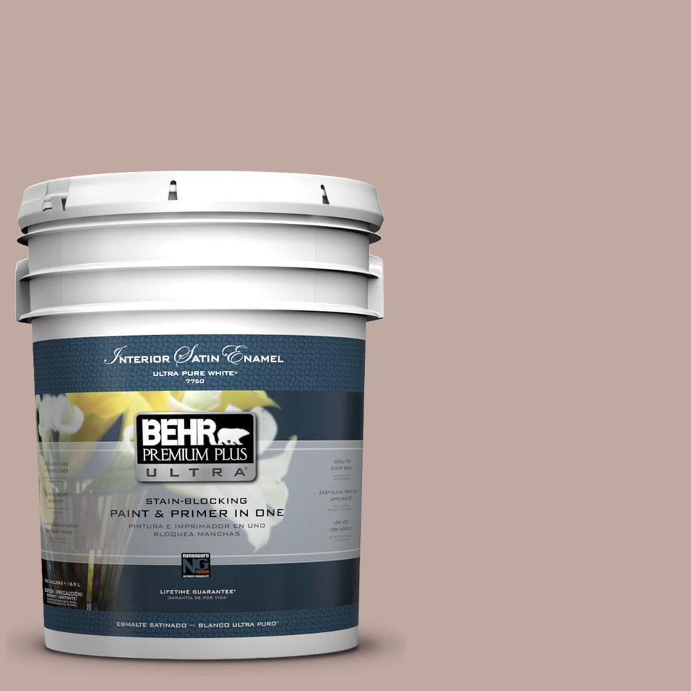 BEHR Premium Plus Ultra 5-gal. #UL130-17 Dusty Rosewood Satin Enamel Interior Paint