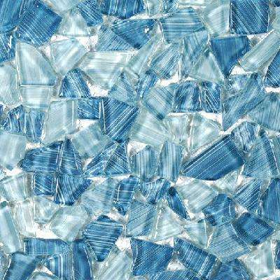 Seaglass Pebble 11.875 in. x 11.875 in. x 8 mm Glossy Glass Mosaic Tile