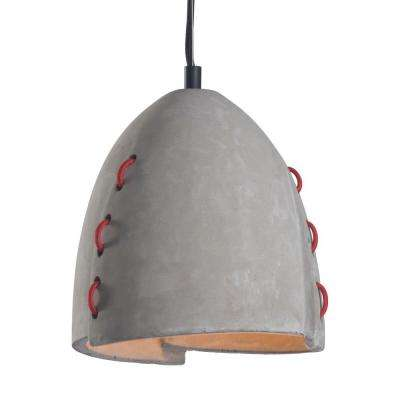 Confidence Concrete Gray Ceiling Lamp