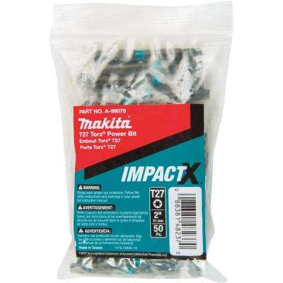 ImpactX T27 Torx 2 in. Modified S2 Steel Power Bit (50-Pack)