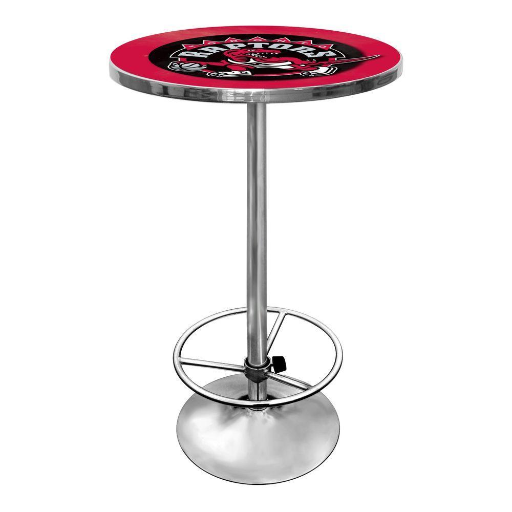 Trademark NBA Toronto Raptors Chrome Pub/Bar Table