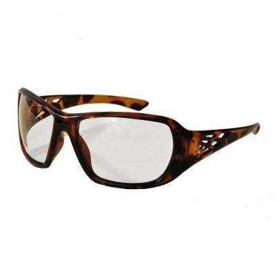 Rose Ladies Eye Protection, Tortoise Shell Frame/Clear Lens
