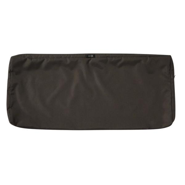 Ravenna 42 in. W x 18 in. D x 3 in. H Patio Bench/Settee Cushion Slip Cover in Espresso