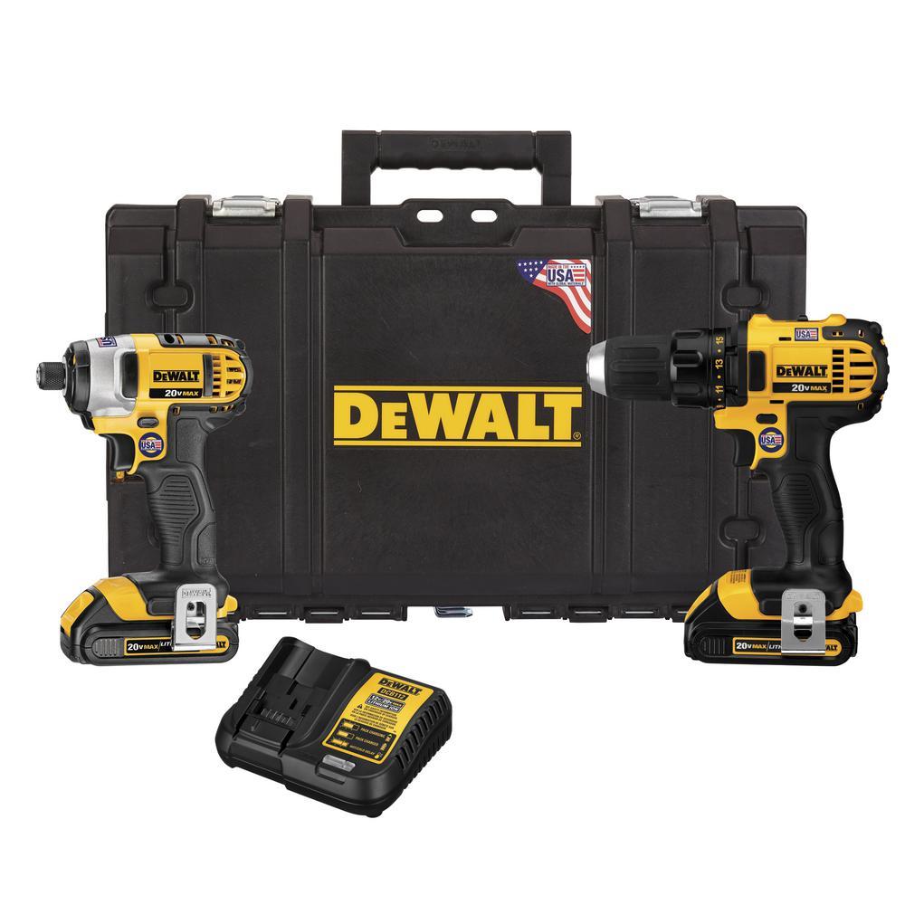 DEWALT 20-Volt MAX Lithium-Ion Cordless Drill Driver/Impact Driver ...