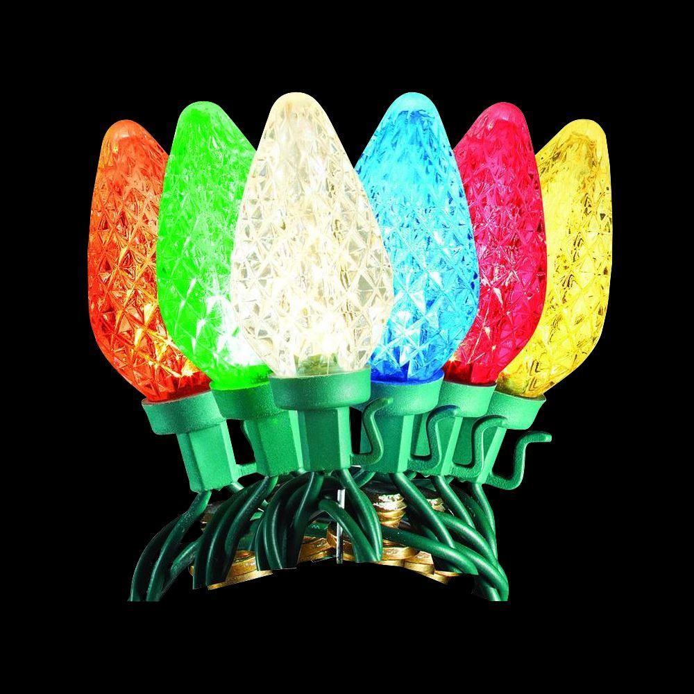 50-Light LED C9 2-Function Warm White or Multi-Color Light Set