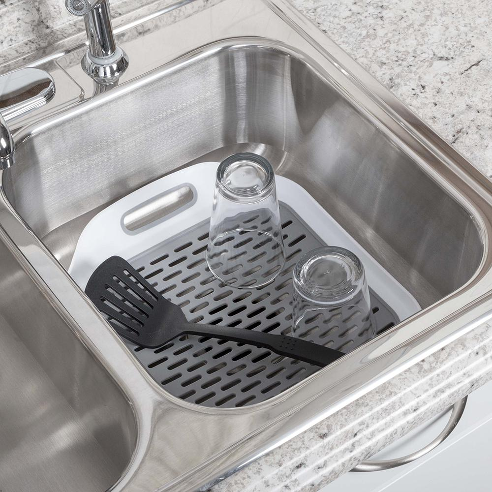 Real Solutions for Real Life Grey Soft Sink Mat