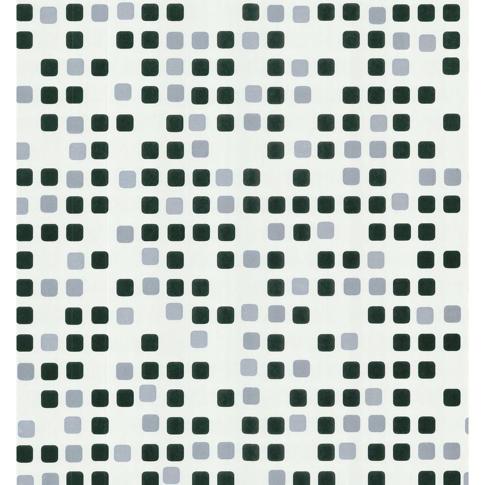 Brewster 56 sq. ft. Geometric Seaglass Tiles Wallpaper