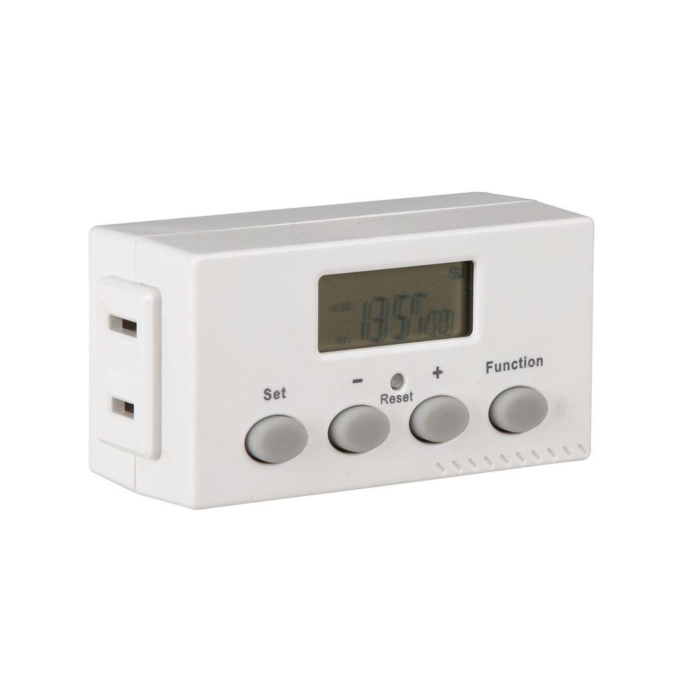 Light Timer Home Depot: Westek 5 Amp 1-Outlet Digital Timer-TE02DHBCC