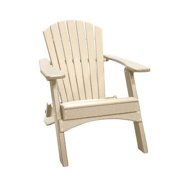 Sandstone Folding Recycled Poly-Lumber Adirondack Chair