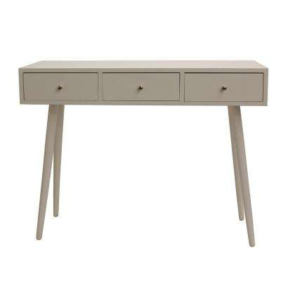 Mid Century Gloss White Console Table