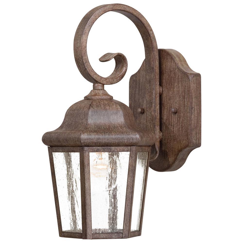 Taylor Court 1-Light Vintage Rust Outdoor Wall Mount Lantern