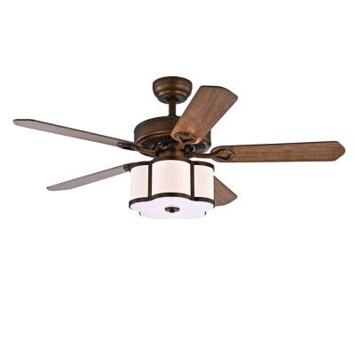 Geloy 48 in. 3-Light Indoor Bronze Remote Controlled Ceiling Fan with Light Kit