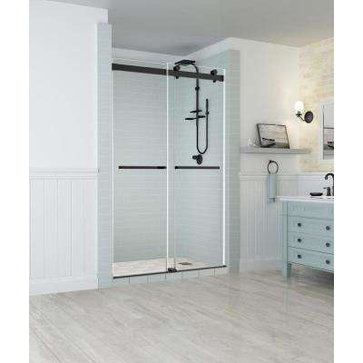 Rivage 44 in. to 48 in. x 76 in. Frameless Sliding Double-Bypass Sliding Shower Door in Oil Rubbed Bronze