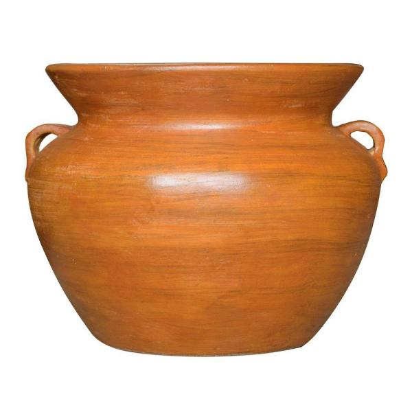 21 in. Smooth Handle Terra Cotta Clay Pot