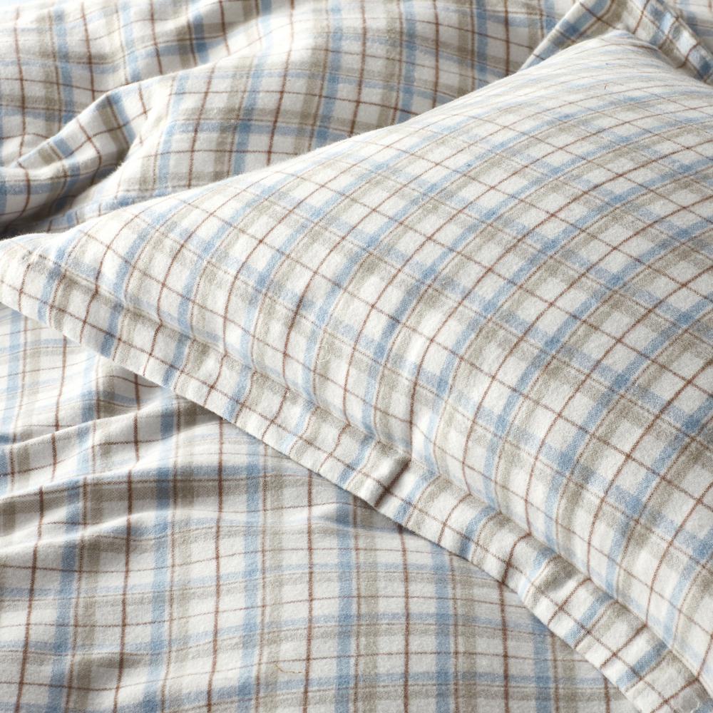 Frasier Yarn Dyed Plaid Organic Flannel Duvet Cover