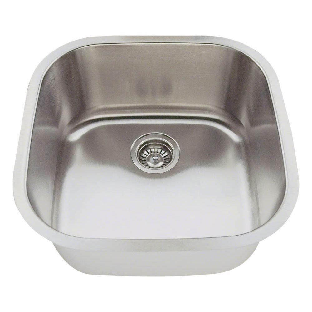 Polaris Sinks Undermount Stainless Steel 20 In Single Bowl Bar Sink