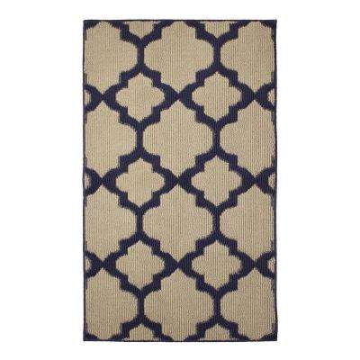 Alessandra Navy 2 ft. x 5 ft. Area Rug