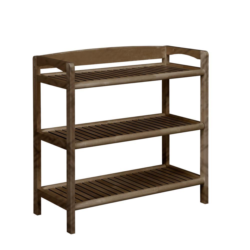 Abingdon Antique Chestnut Adjustable Bookcase