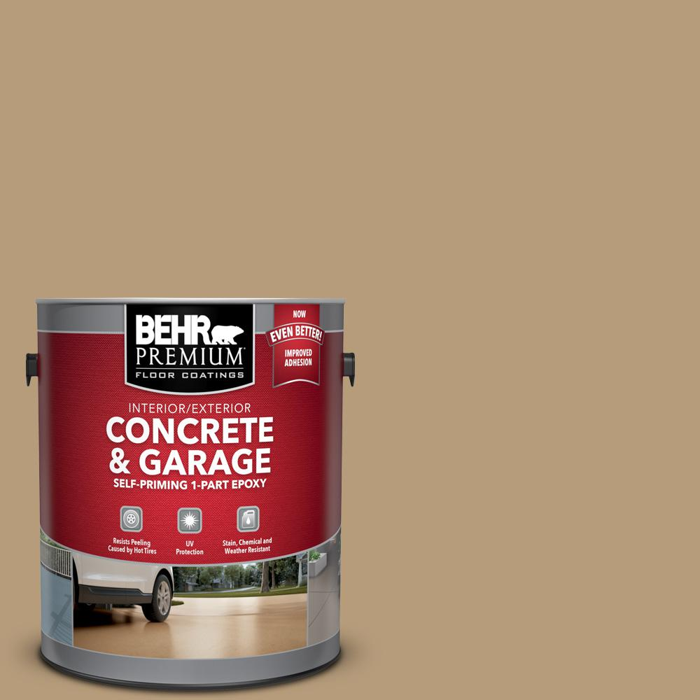BEHR Premium 1 gal. #PFC-28 Desert Sandstone Self-Priming 1-Part Epoxy Satin Interior/Exterior Concrete and Garage Floor Paint