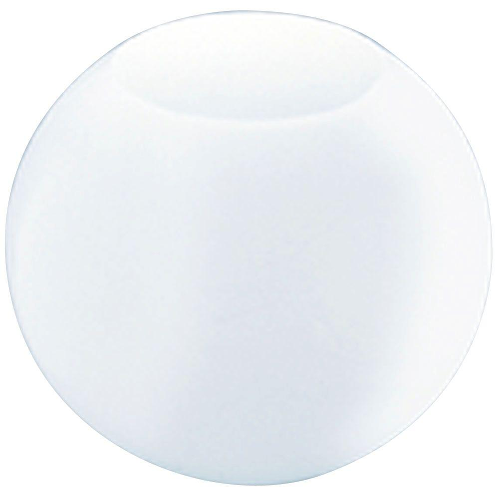12 in. White Polyethylene Neckless Globe with 5-1/4 in. Top Opening