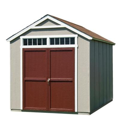 Installed Majestic 8 ft. x 12 ft. Wood Storage Shed with Autumn Brown Shingles