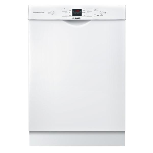 100 Series 24 in. White Front Control Tall Tub Dishwasher with Hybrid Stainless Steel Tub and Utility Rack, 50dBA