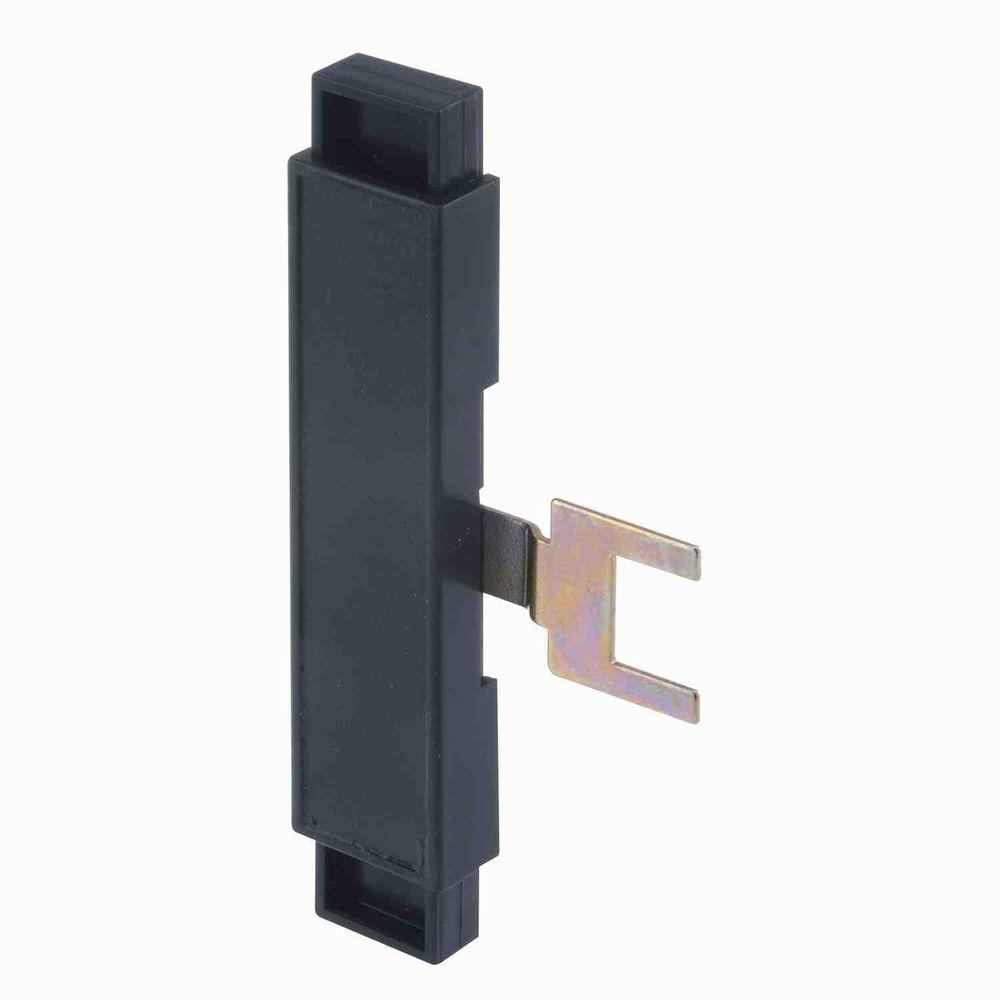 Prime-Line Black Plastic Guaranteed Handle System Slide and Hook Assembly