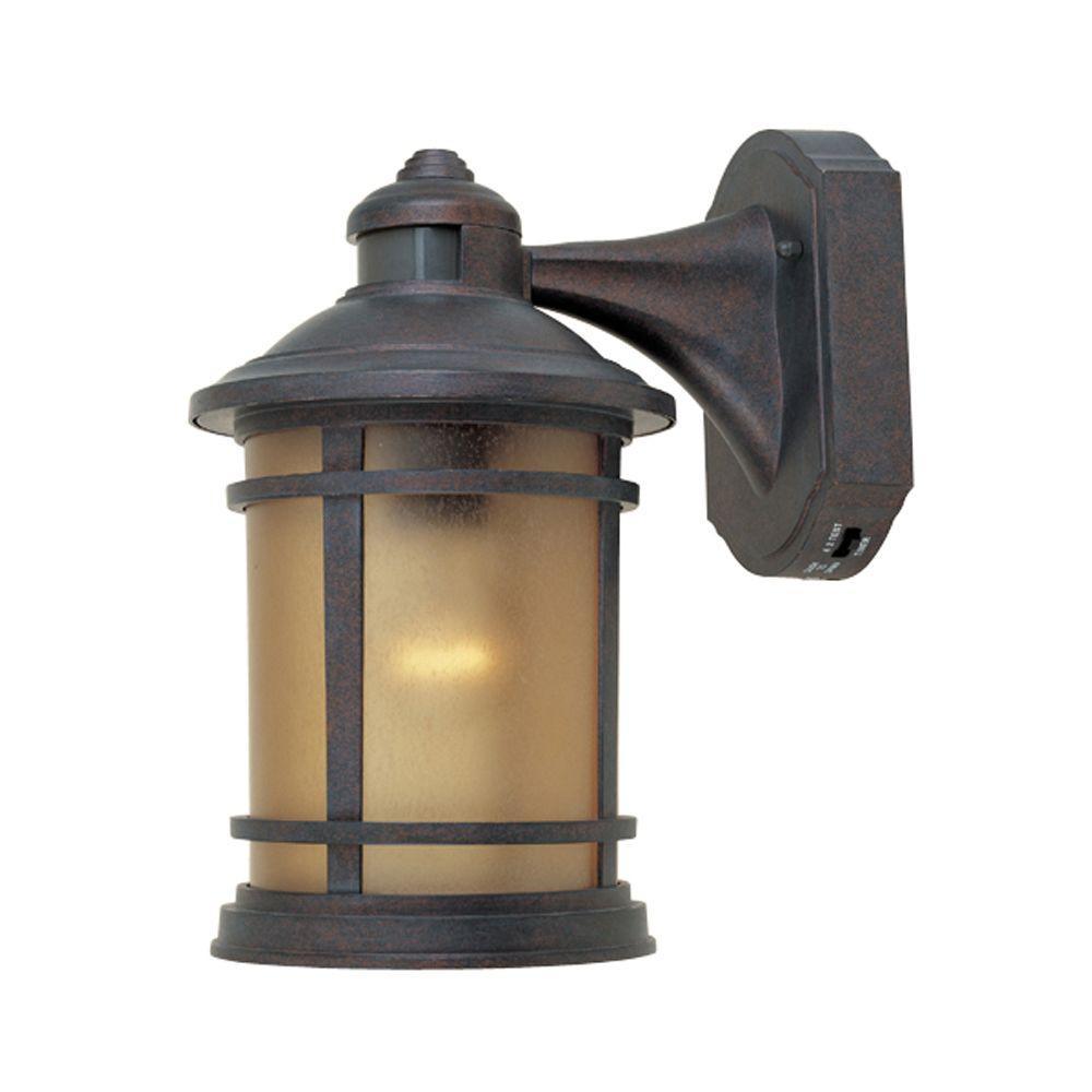 Designers Fountain Mesa Collection Mediterranean Patina Outdoor Wall-Mount Lantern