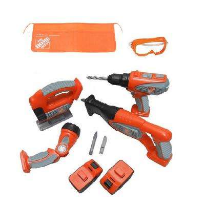 10-Piece Deluxe Power Tool Set with Try Me Light, Sound and Motion Function