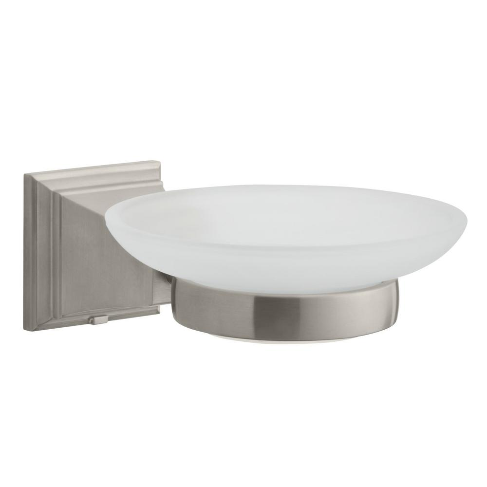 Glacier Bay Exhibit Wall-Mounted Soap Dish in Brushed Nickel