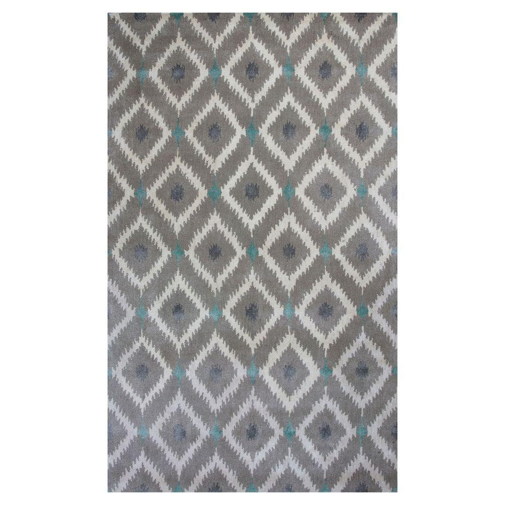 Kas Rugs Bob Mackie Home Silver Grey Mirage 8 Ft X 11