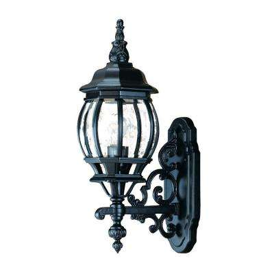 Chateau Collection 1-Light Matte Black Outdoor Wall-Mount Light Fixture