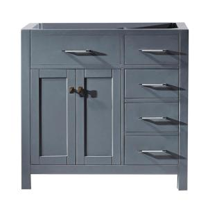 Caroline Parkway 36 in. W Bath Vanity Cabinet Only in Gray