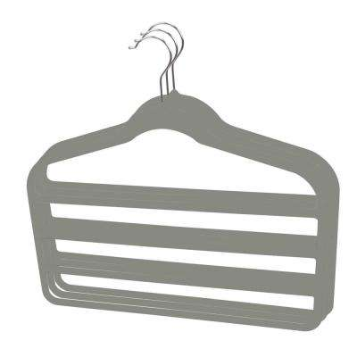 Grey Velvet Trouser Hanger (3-Pack)