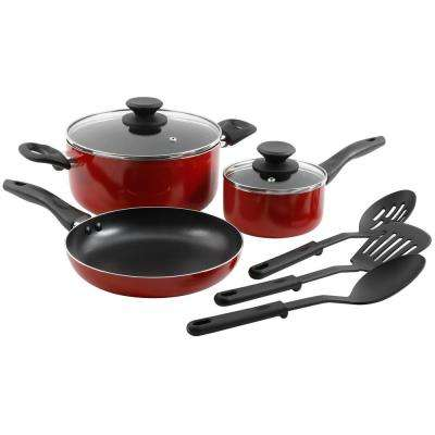 Palmer 8-Piece Red Cookware Set with Lids