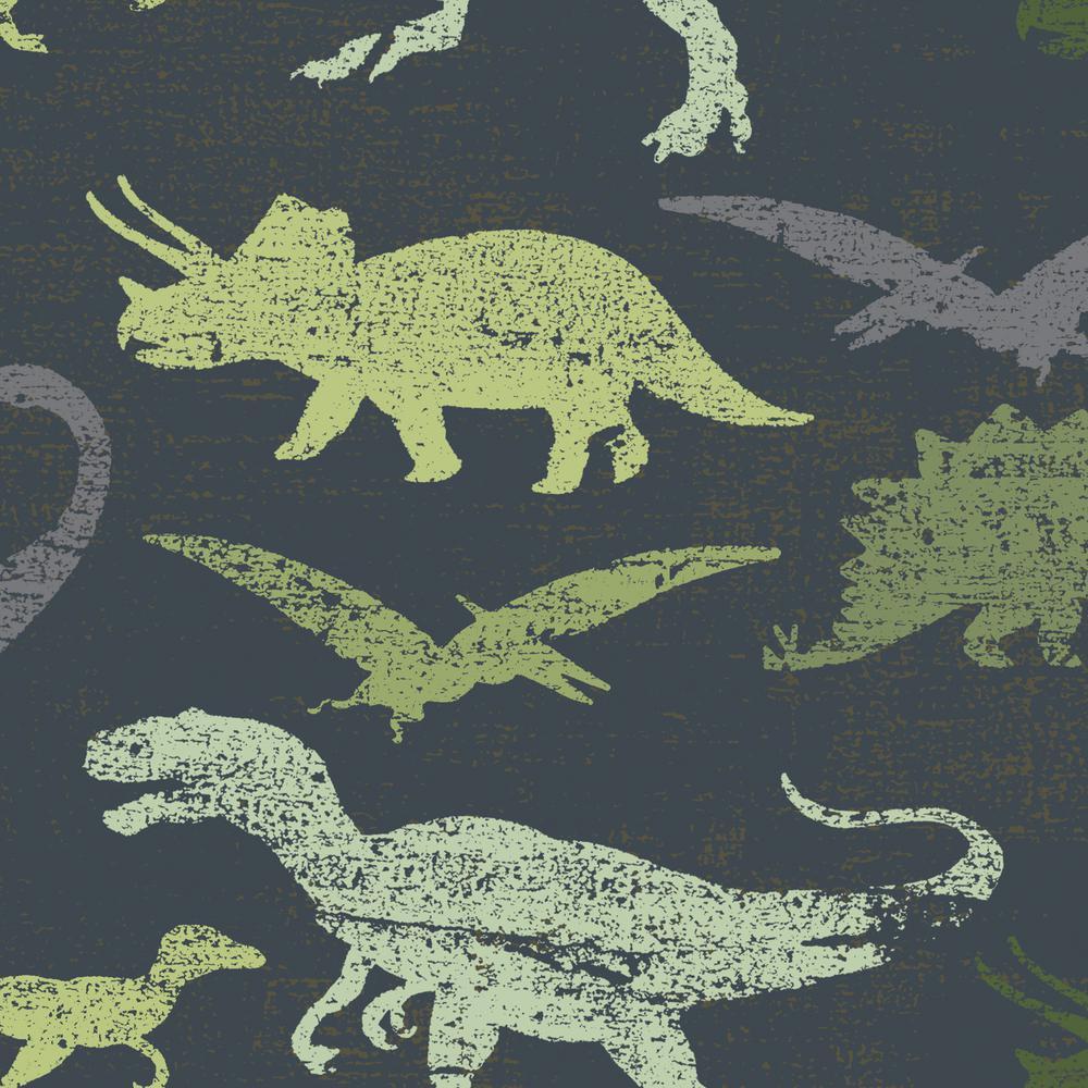 Tempaper Kids Dinosaurs Navy and Green Multi Self-Adhesiv...