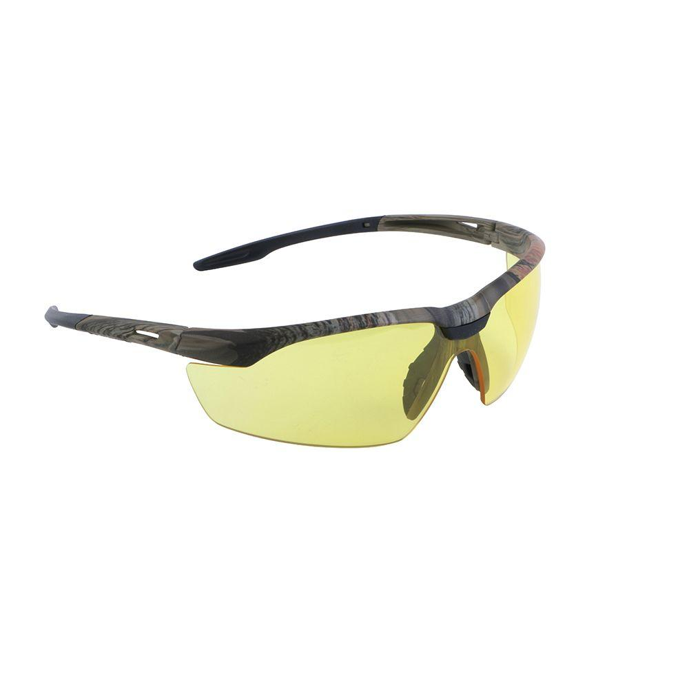 Lincoln Electric Camo Safety Yellow Glasses with Amber Lenses