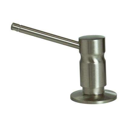 Solid Brass Soap/Lotion Dispenser in Brushed Nickel