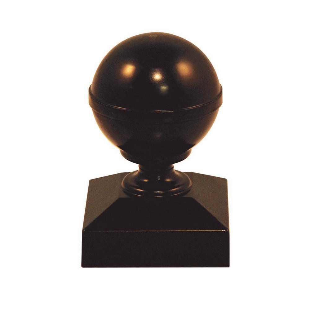 Bronze Aluminum Ball Fence Post Cap