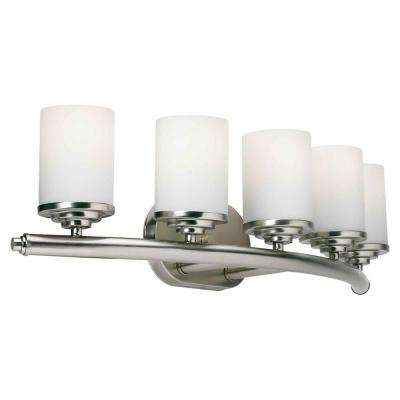 Oralee 5-Light Brushed Nickel Bath Vanity Light