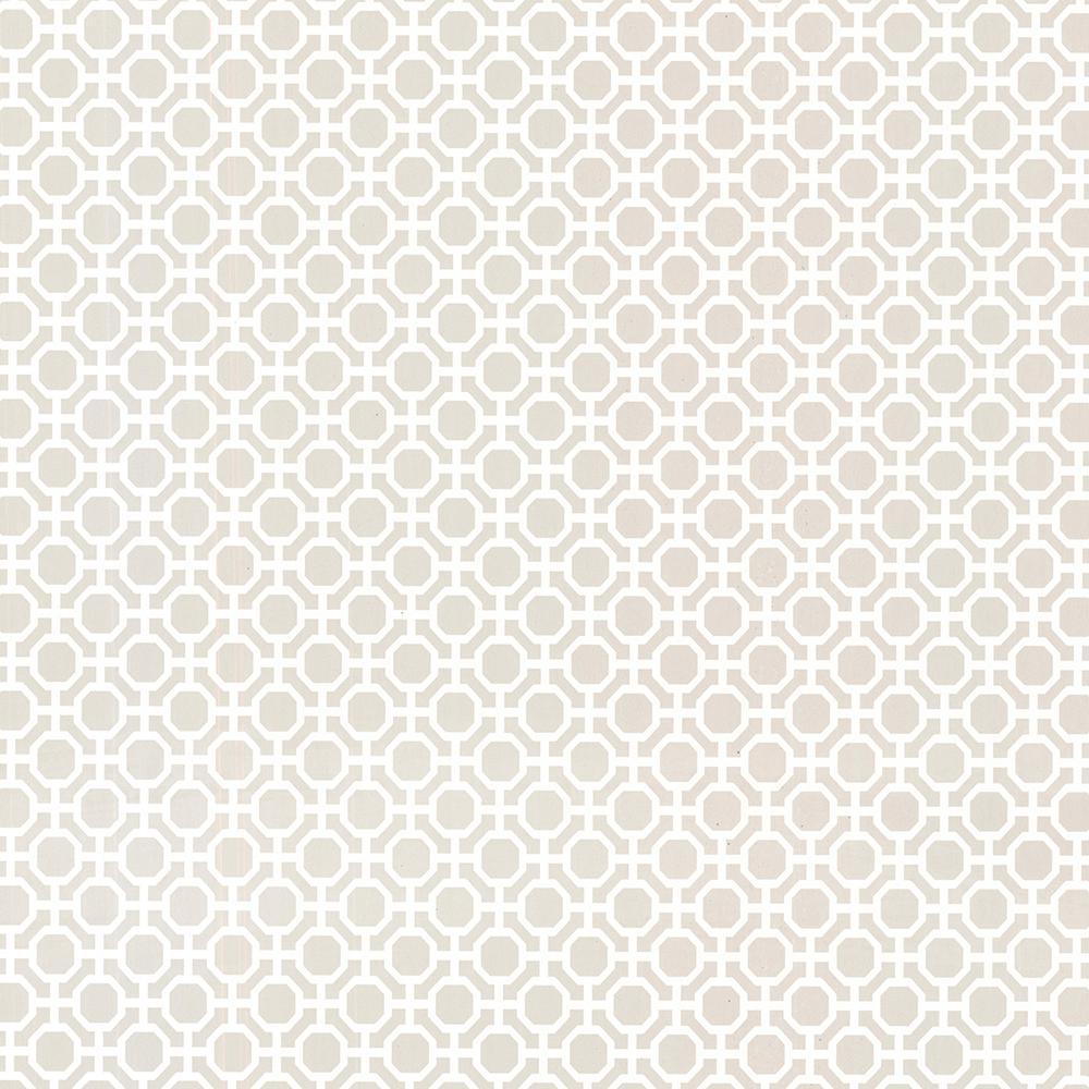 Beatrix Grey Modern Geometric Wallpaper Sample