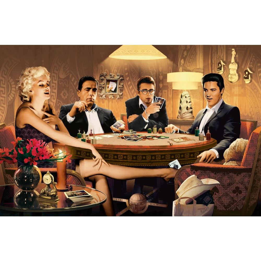 45 in. x 69 in. Four of a Kind Wall Mural
