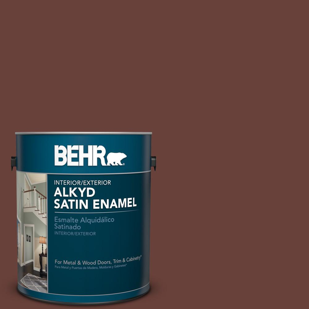 1 gal. #BNC-32 Maximum Mocha Satin Enamel Alkyd Interior/Exterior Paint