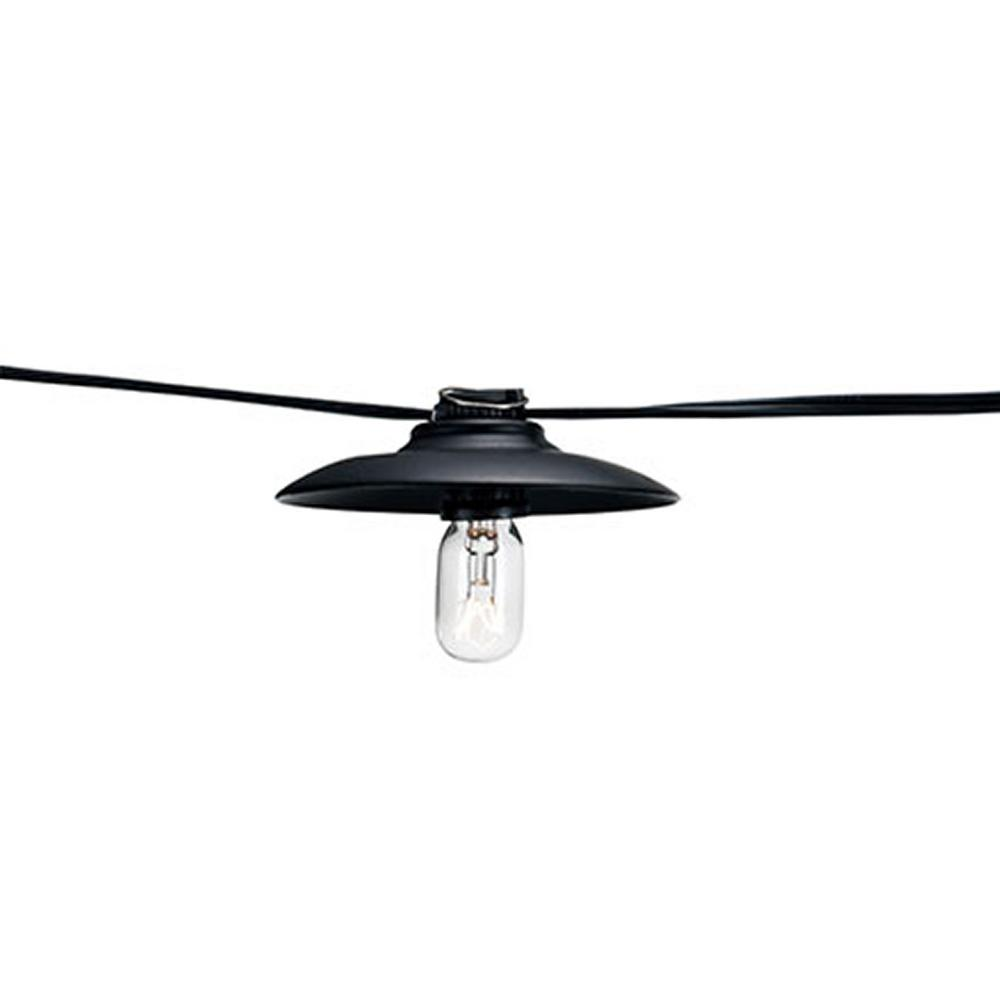 126 in. 10-Socket Rubbed Oil Bronze Incandescent String Light