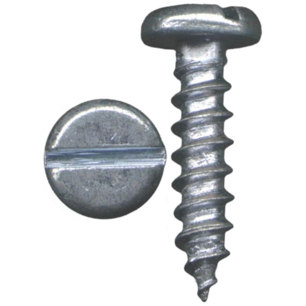 Everbilt #12 1-1/2 in. Slotted Pan-Head Sheet Metal Screws (4-Pack)
