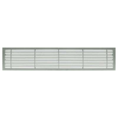 AG20 Series 6 in. x 24 in. Solid Aluminum Fixed Bar Supply/Return Air Vent Grille, Brushed Satin