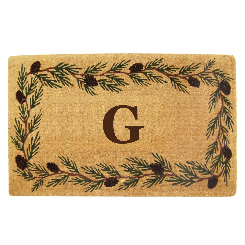 Evergreen 22 in. x 36 in. Heavy Duty Coir Monogrammed G