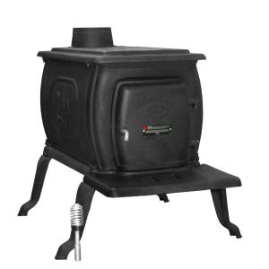 US Stove Logwood 1600 sq. ft. EPA Certified Cast Iron Wood Stove by US Stove
